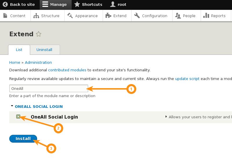 Drupal 8 - Install Social Login