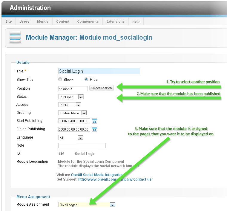 Joomla Social Login Enable Module
