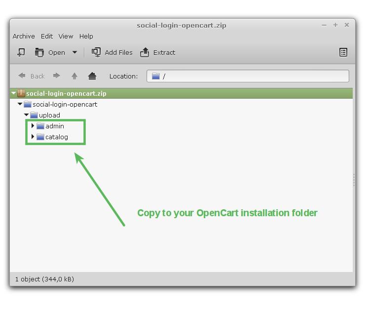 OpenCart Module Files