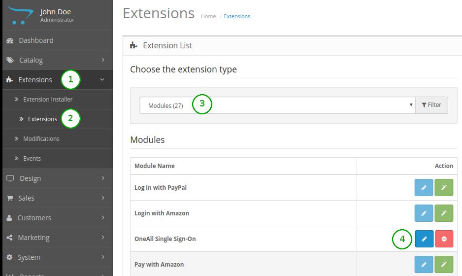 OpenCart 2.3.x : Module Files
