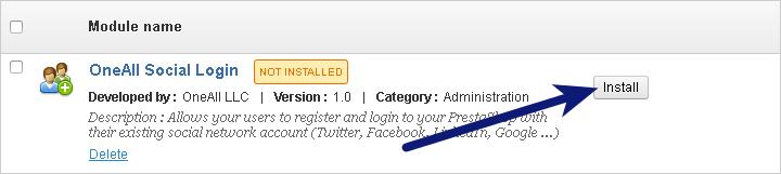 PrestaShop Social Login Install