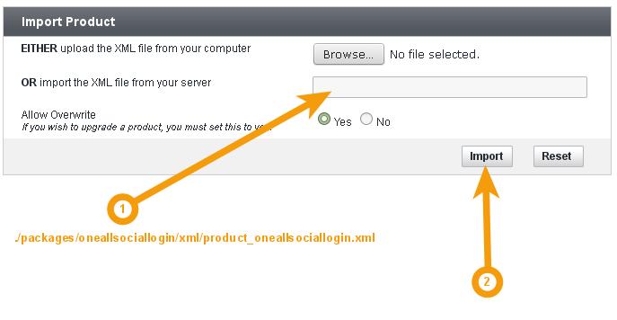 Upload Social Login XML