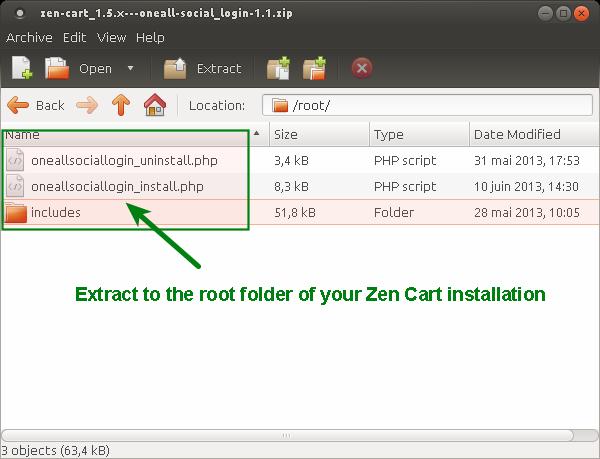 Zen-Cart Social Login Install Root