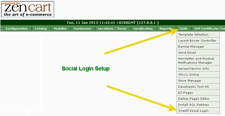 Zen-Cart Social Login setup